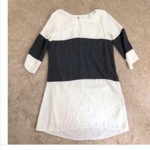 Lulu's XS Black White Colorblock Short Dress Shift